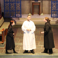 Students perform in Murder in the Cathedral