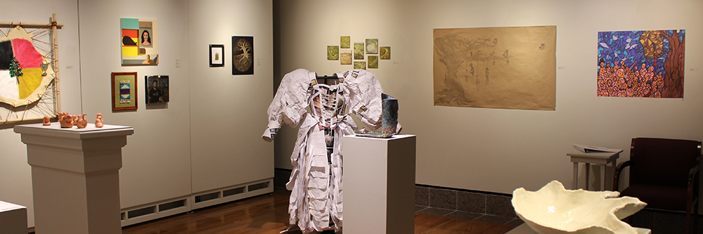 Works by students, faculty and staff in the Dadian Gallery